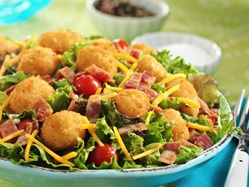 Popcorn Fish BLT Salad